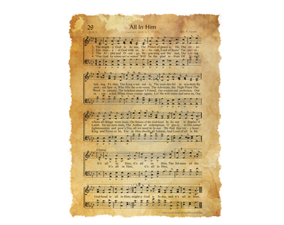All In Him Chords And Lyrics Hymn By George Farrow Musings Of A